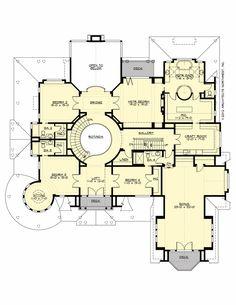 Upper Floor Plan for Chatham Hall. 7050 sq ft + 1100 sq ft 4 car garage. 3 stories, 6 bedrooms, 6 full baths, 1 half bath, bonus room and craft room. Plan# M5900A4S-1