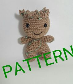 Crochet groot pattern  Check out this item in my Etsy shop https://www.etsy.com/listing/540465173/amigurumi-groots-pattern-pdf-instant