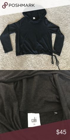CAbi Recess Topper CAbi Gray Recess Topper Hoodie Pullover with Drawstring XL CAbi Tops Sweatshirts & Hoodies