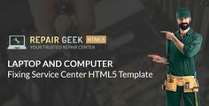 Repair Geek – Laptop And Computer Fixing Service Center HTML5 Template Repair Geek is a modern looking responsive HTML5 template specially designed & developed for Laptop And Computer Fixing Service Center. It's perfectly functional and ideal for companies/shops which repair computer, tabs and laptops. All elem #computer #computer fix #computer laptop #computer repair #laptop fix #laptop repair #laptop service #repair #repair service #service center #Te #malwaresoftware Remove viruses,clean… Computer Laptop, Computer Tips, Computer Repair Services, Weird Words, Laptop Repair, Laptops, Web Design, How To Remove, Laptop