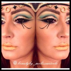 Day 3 Of 31 Halloween Makeup Looks My Egyptian Cleopatra images ideas from Beautiful Makeup Photos Cleopatra Makeup, Egyptian Makeup, Egyptian Eye, Egyptian Costume, Egyptian Headpiece, Halloween Makeup Looks, Halloween Kostüm, Cleopatra Halloween, Cleopatra Costume