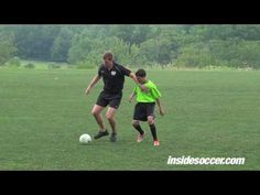 Midfield play: Position Specific - receiving to turn - YouTube