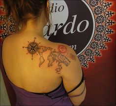 #ink #inked #tattoo #tattooartist #mapoftheworld #color #colortattoo #backpiece #studio #bardo #studiobardo