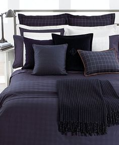 Lauren Ralph Lauren Bedding, Navy Glen Plaid Suite Collection   Bedding  Collections   Bed U0026 Bath   Macyu0027s Bridal And Wedding Registry