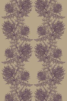 Timorous Beasties - Fabric - Thistle