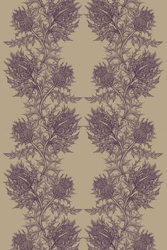 Timorous Beasties - Fabric - Thistle
