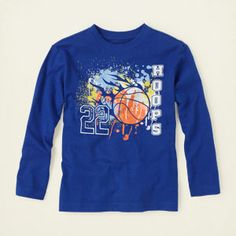 boy - graphic tees - hoops graphic tee | Children's Clothing | Kids Clothes | The Children's Place