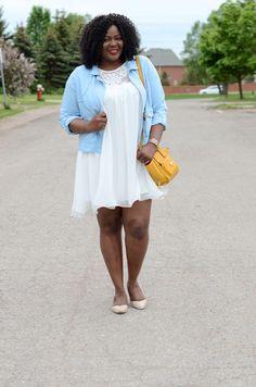My Curves & Curls™ | A Canadian Plus Size Fashion blog: Pale blue