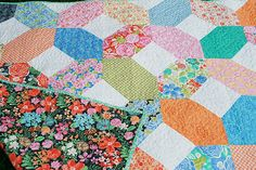 """A Quilt for a Teacher by Fresh Lemons Quilts  uses 5"""" white squares"""