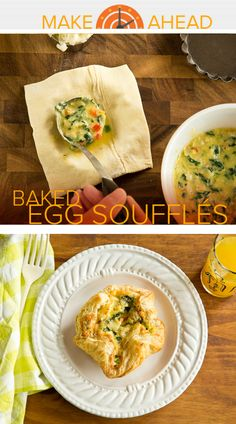 Make-ahead mornings: These easy baked egg soufflés freeze and reheat beautifully!