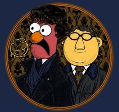 You'll have to be as swift as Sherlock's mind to snap up this Muppets tee from RIPT. for today only. Until, that is, the artist puts it up elsewhere. Beaker Street is too good to. Day Of The Shirt, Geek Out, Sherlock Bbc, The Hobbit, Funny Photos, Doctor Who, Geek Stuff, Canvas Prints, Poster