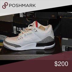 Jordan retro 3 Red and whit size 12 men's Jordan Shoes Athletic Shoes