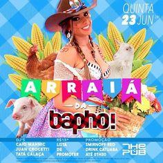 #VEJA The Pub: Arraiá da Bapho! #agenda @paroutudo via ParouTudo http://ift.tt/28ZIBBH #Raynniere #Makepeace