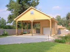 Check our huge array of custom carports for customers across the USA. Explore our carport ideas gallery, carport design photos and so much more. Carport Sheds, Carport Patio, Carport Plans, Carport Garage, Garage Plans, Car Garage, Garage Ideas, Detached Garage, Wooden Carports
