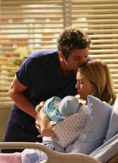 Derek & Meredith with their baby boy!