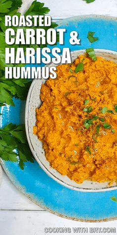 Roast Carrot with Harissa Hummus Recipe - Humus with a twist! This gorgeously rich and flavoursome hummus dip recipe is a little bit sweet, and a little bit spicy thanks to harissa! Perfect for parties or entertaining. #recipe #recipes #dips #spreads #hummus Dip Recipes, Side Dish Recipes, Cooking Recipes, Vegetarian Recipes, Healthy Recipes, Gourmet Appetizers, Appetizer Recipes, Hummus Recipe, Hummus Dip