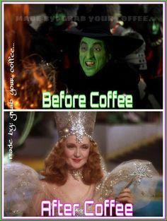 vor dem Kaffee nach dem Kaffee - Wizard of Oz Inspiration - . Coffee Talk, Coffee Is Life, I Love Coffee, Coffee Break, Morning Coffee, Coffee Cups, Coffee Coffee, Coffee Lovers, Coffee Shop