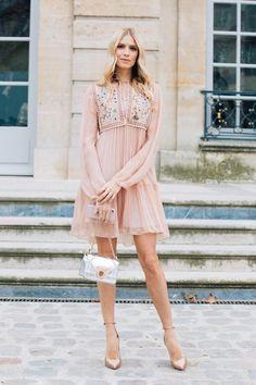 Elena Perminova in Dior | PFW