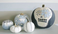 No-carve pumpkin decorating ideas. Especially love the Mr. Potato Head parts. :)