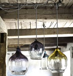 eclectic hand blown glass pendant lights by the forest & co | notonthehighstreet.com