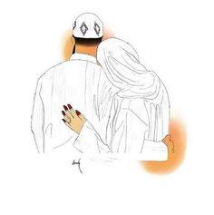 muslim love couple so cute Couple Musulman, Cute Couple Art, Cute Muslim Couples, Cute Couples, Muslim Photos, Muslim Couple Photography, Hijab Drawing, Love Cartoon Couple, Islam Marriage
