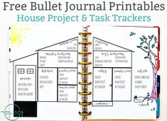 Bullet Journal Inspired Free Printables. Download two free inserts for your planner - a house project and a task sheet. Available in multiple sizes.