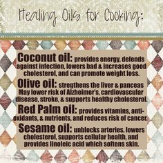 The healthiest oils for everyday cooking. Got Essential Oils? Healing Oils: The Ins & Outs | Food L'amor | Gluten Free Recipes | Homemade Love.
