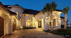 "Sater Design's 6962 ""Padova"" luxury home plan from our Mediterranean house plan portfolio...."