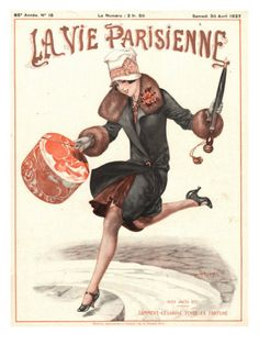 La Vie Parisienne, Erotica Glamour Art Deco Shopping Womens Magazine, France, 1927 Premium Poster