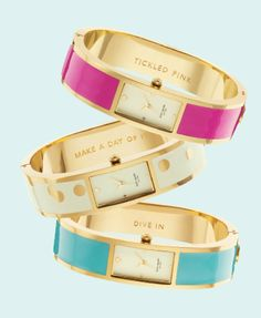 Kate Spade's new watch collection makes me want to start wearing watches.
