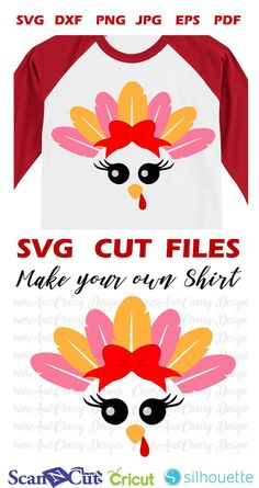 Excited to share the latest addition to my shop: Turkey face SVG for girl, Turkey svg file for Cricut Thanksgiving SVG, Thanksgiving Projects, Thanksgiving Tshirts, Thanksgiving Table, Make Your Own Shirt, Cricut Craft Room, Cricut Creations, Applique Patterns, Personalized T Shirts, Svg Files For Cricut