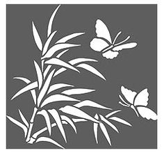 Bamboo Stencils Bamboo and Butterfly Stencil