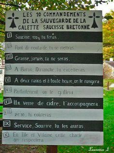 Les dix commandements de la sauvegarde de la galette saucisse bretonne - Breizhbook