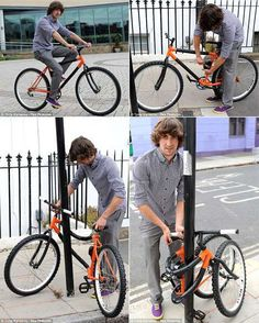 Bendable Bike by Kevin Scott  A young designer has invented a revolutionary folding bicycle that will stop thieves in their tracks.Kevin Scott, 21, designed the space-age bike that wraps around a lamp post so it can be locked-up safely – without the need for a lock or chain.