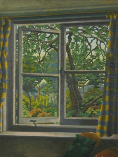 Through a Cottage Window, Shipley, Sussex by Charles Ginner