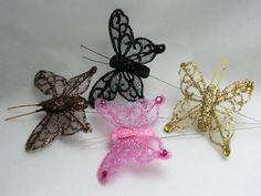 Fabric & Beaded Butterflies Wedding Butterflies in Pastel Colours - little luxuries for your wedding ad home...