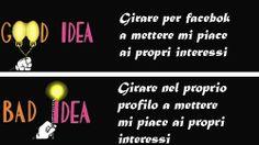 Una nuova serie sulle buone idee e le cattive idee da fare sui social network  https://www.facebook.com/LaTavernaSocial
