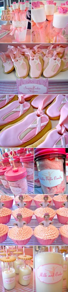 Ballerina themed party. Such CUTE ideas on this pin!