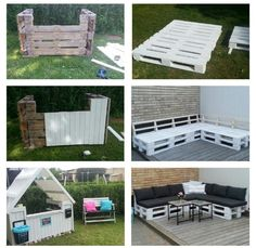 Pallet Crates, Wood Pallets, Palette, Backyard Play, Play Houses, Tree Houses, Recycled Pallets, Outdoor Furniture Sets, Outdoor Decor