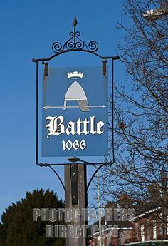 Battle Town Sign, East Sussex England ...
