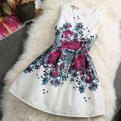 #dress #flowers #shortsummerdress