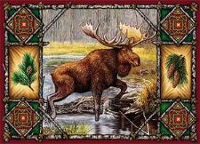 Moose Lodge Woven Placemat Set