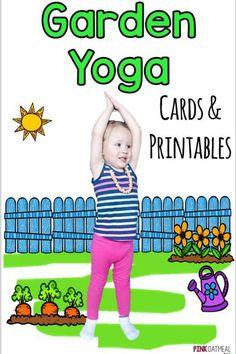 Garden Yoga For Kids. Summer Gross Motor Ideas! Fun kids yoga poses!