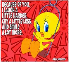 Friendship❤️From my friend Sweet Teresa Missing You Quotes For Him, Thinking Of You Quotes, Psalms Quotes, Sign Quotes, Tweety Bird Quotes, Cute Good Morning Quotes, Uplifting Thoughts, Nice Thoughts, Looney Tunes Cartoons