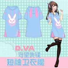 Overwatch Dva Bunny Ears Pajamas Dress