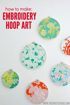 Time to dive in to some of the projects you spotted in Maya's nursery reveal. First up? DIY embroidery hoop art. I have been wanting to do this project for AGES…
