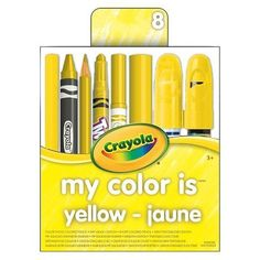 Crayola My Color is Yellow Crayola http://www.amazon.com/dp/B011TOJKH4/ref=cm_sw_r_pi_dp_AN9Mwb1C4WNWS