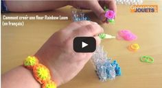 Tendance Bracelets  Comment créer une fleur Rainbow Loom (Tuto bracelet en élastique en fr