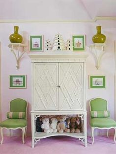 Girls room by Mary McDonald.Mary McDonald is one of the designers who has adapted the Regency-Empire styles that date back to the early 19th century for modern times