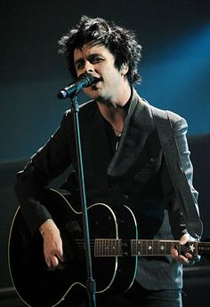 Musician Billie Joe Armstrong of Green Day performs onstage at the 2009 American Music Awards at Nokia Theatre L.A. Live on November 22, 2009 in Los Angeles, California.